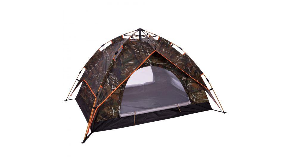Палатка-автомат с автоматическим каркасом 2-х местная TY-0538 (р-р 2х1,5х1,25м, 2 слоя, PL, камуфляж Лес)