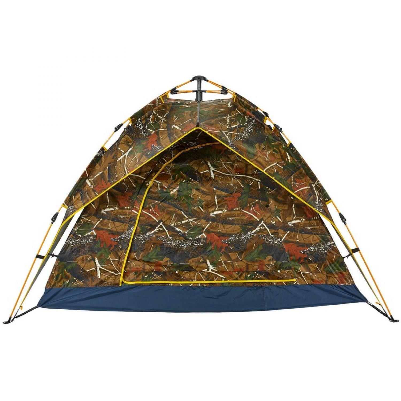 Палатка-автомат с автоматическим каркасом 4-х местная TY-0539 (р-р 2х2х1,35м, 2 слоя, PL, камуфляж Лес)