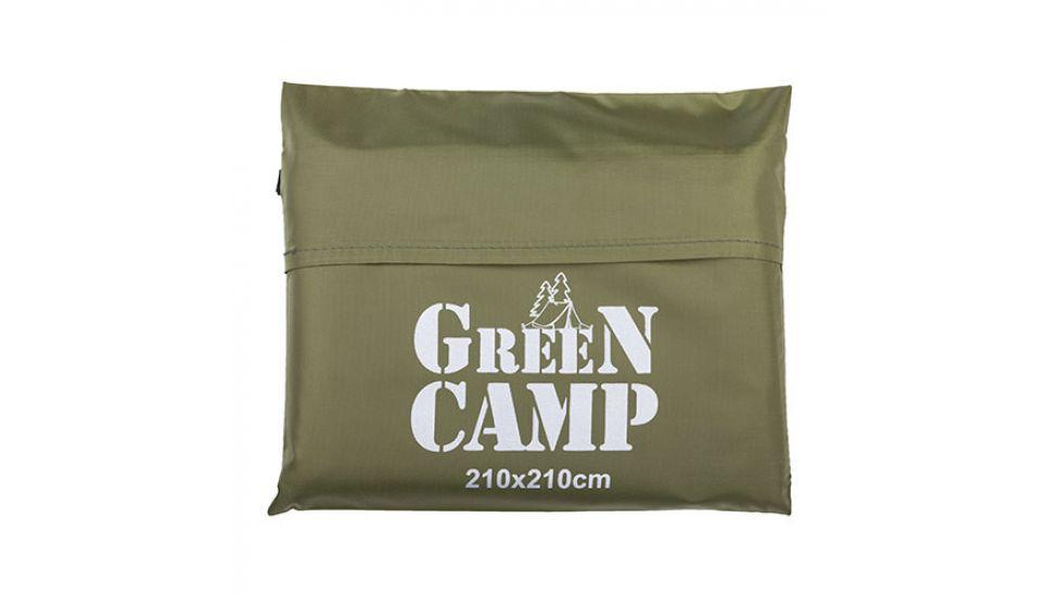 Пол дополнительный для палатки, тента, 210*210 cм, зеленый/коричневый