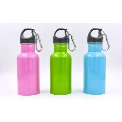 Бутылка для воды алюминиевая с карабином SP-Planeta 500ml FI-0044 (цвета в ассортименте)