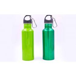 Бутылка для воды алюминивая с карабином SP-Planeta 700ml FI-0046 (цвета в ассортименте)