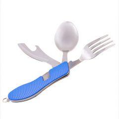 Набор туристический: вилка, ложка, нож, открывашка, hx-12