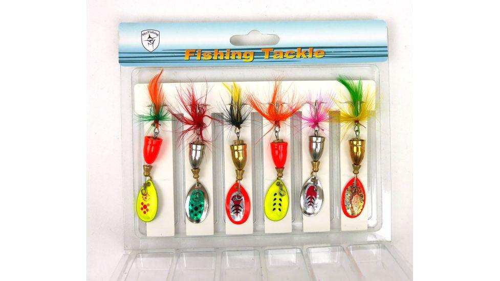 Подарочный набор блесен в коробке от Sky Fish 6 шт. – 8 грамм