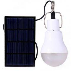 Кемпинговая лампа с аккумулятором и солнечной панелью 15 Вт 130LM
