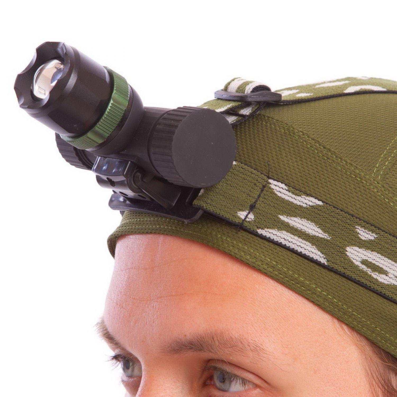 Фонарик налобный ZOOM YL-6866 (пластик, 1 Cree, линза, zoom, на аккумул. или батар. (4 AA),3 ур.осв)