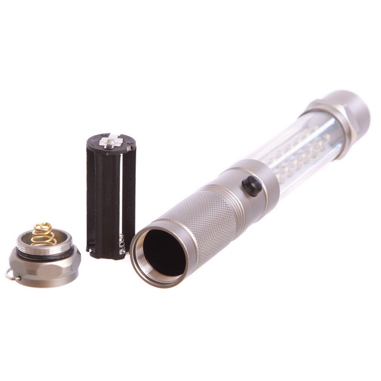 Фонарик ручной светодиодный с магнитом BL-002-25 (16+9 LED, на бат. (3 AAA), l-25см)