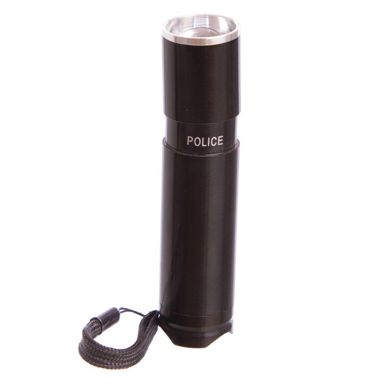 Фонарик светодиодный BL-8436 (металл, пластик,l-10см, 1 Cree лампа, zoom, на батарейках (3 AAA))