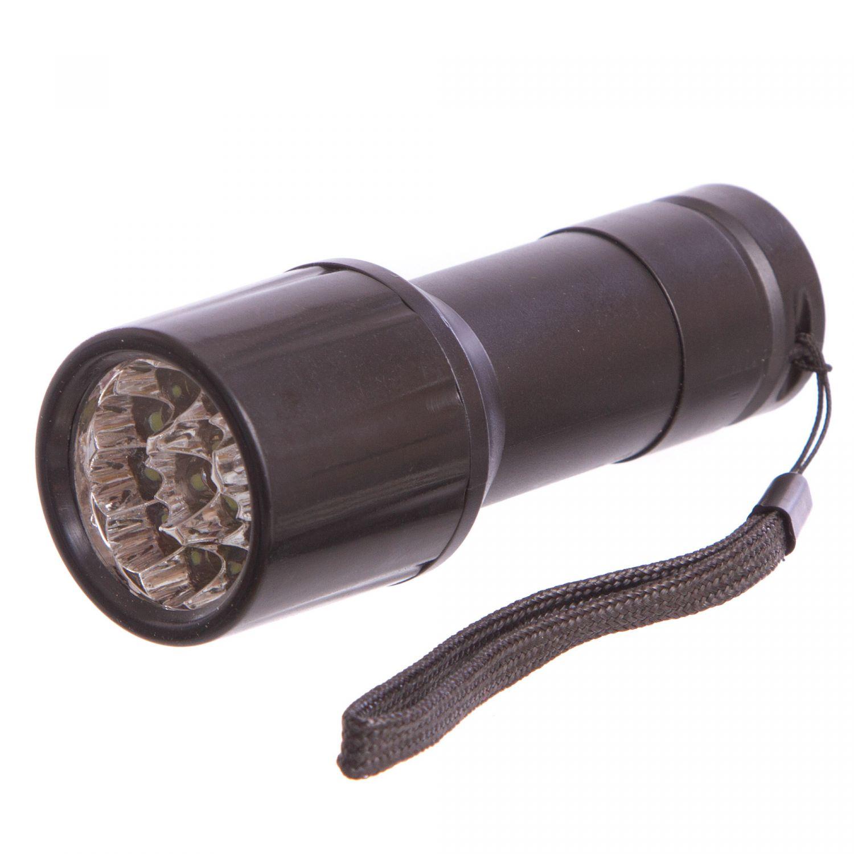 Фонарик ручной светодиодный TD-528-14 (металл, пластик, 14 светодиодов, на батарейках (3 AAA))