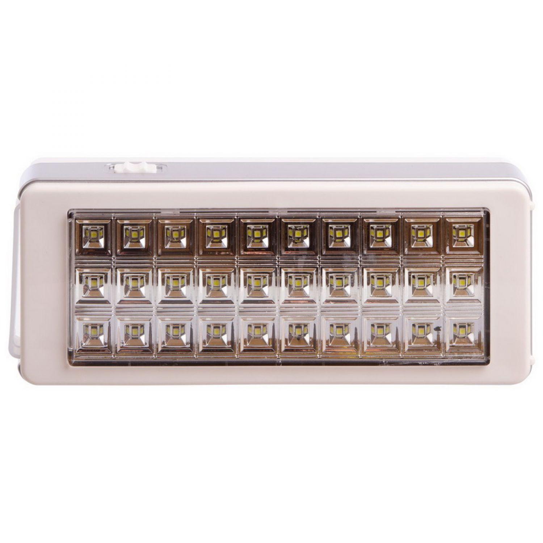 Фонарь аккум. аварийный светодиодный переносн. TY-8682A (30 led, на бат. (3C), аккум, р-р 23,5х10см)