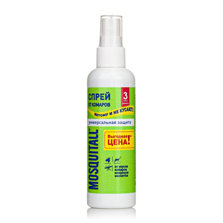 Спрей MOSQUITALL от комаров Универсальная защита, 100мл