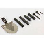 Лопата многофункциональная складная тактическая TY-6832 (нерж.,хром.сталь, l-74см,р-р 13х16,5см,черный)