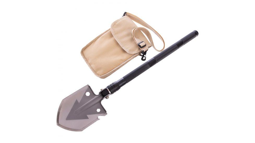 Лопата многофункциональная складная тактическая ty-6832 (нерж.,хром.сталь, 74см,р-р 13х16,5см,черный)