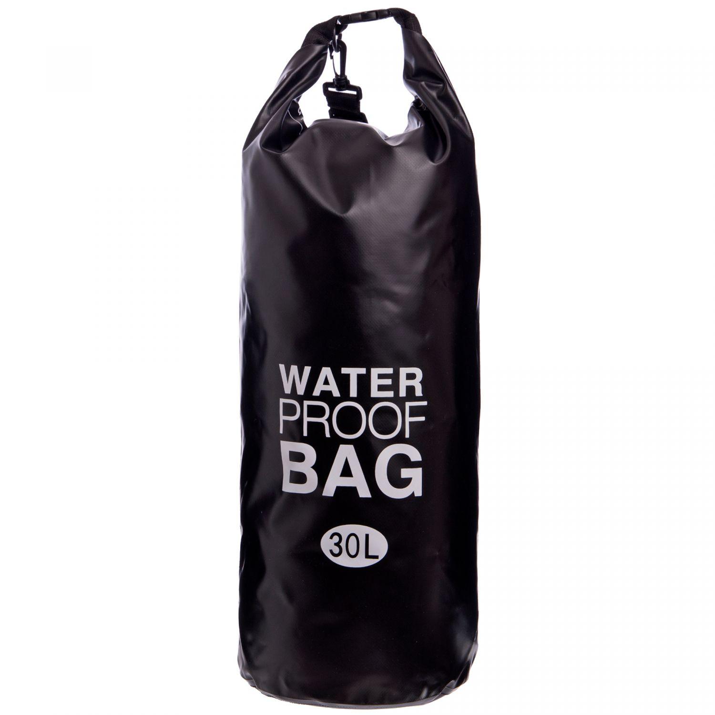 Водонепроницаемый гермомешок с плечевым ремнем Waterproof Bag 30л TY-6878-30 (PVC,цвета в ассортименте )