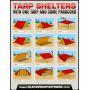 Туристический набор Tarp Shelters- тент, паракорд, колышки