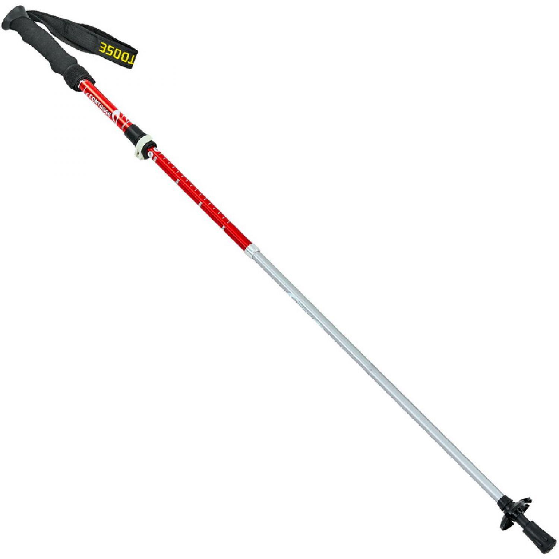 Палка треккинговая (для скандинавской ходьбы) с металлическим тросом (2шт) TY-0466-4 CONTOOSE (алюминий, 4 слож, l-55-123см)