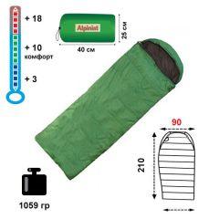 Спальный мешок-одеяло Alpinist 150 XXL с подголовником