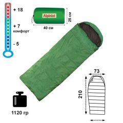 Спальный мешок-одеяло Alpinist 250 с подголовником