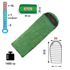 Спальный мешок-одеяло Alpinist 250 XL с подголовником