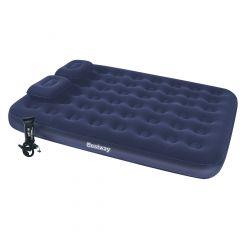 Набор матрас Queen BestWay 67374 с насосом и подушками (203х152х22)