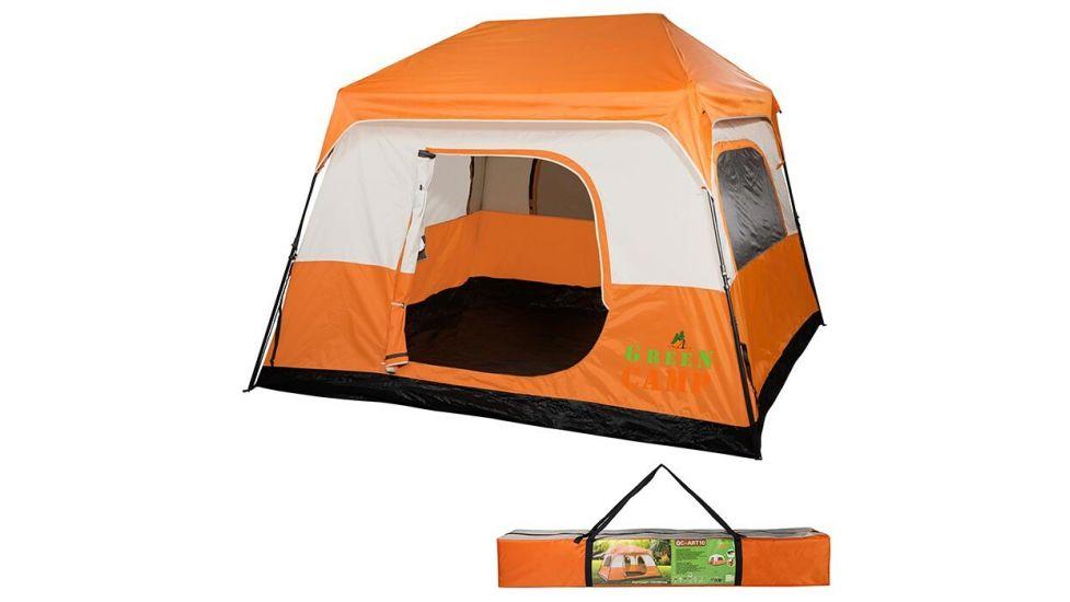 Палатка 4+1 местная GreenCamp 10 полуавтомат