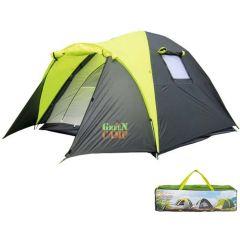Палатка 3-х местная GreenCamp 1011-2, на 2 входа