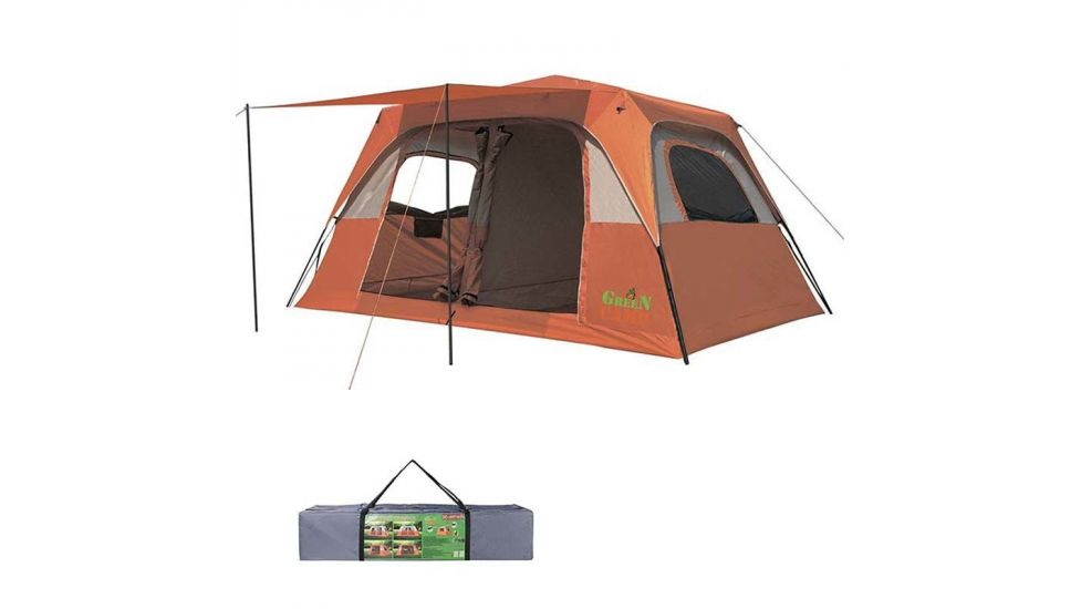Палатка 6+2 местная GreenCamp 1610, полуавтомат