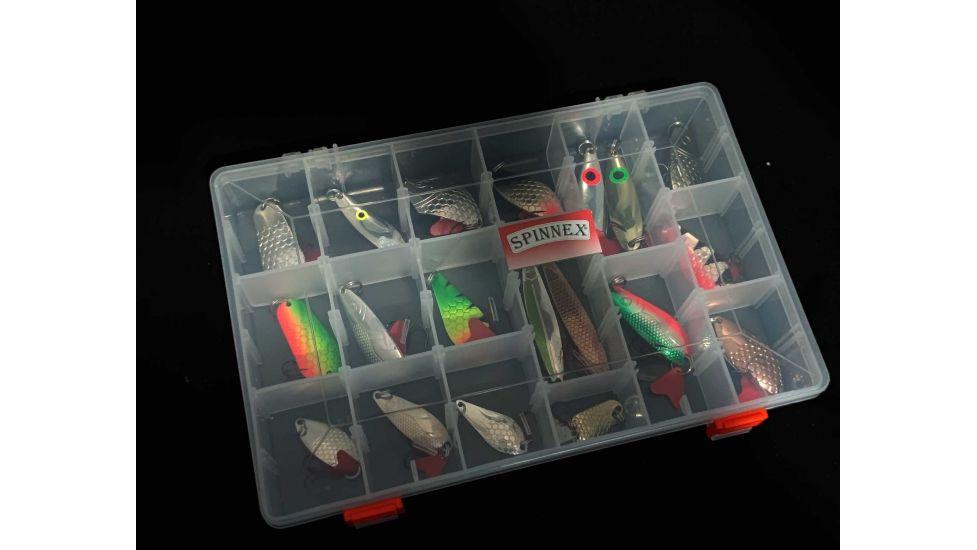 Набор колеблющихся блесен Spinnex original в коробке 8 видов 19 шт