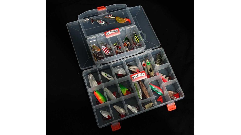 Полный ряд блесен Spinnex original в коробке 14 видов 32 шт