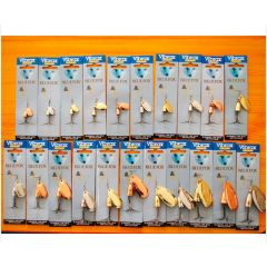 Набор - полный ряд блесны вертушки Blue Fox Original Vibrax 4-18 гр., 18 шт., три цвета.