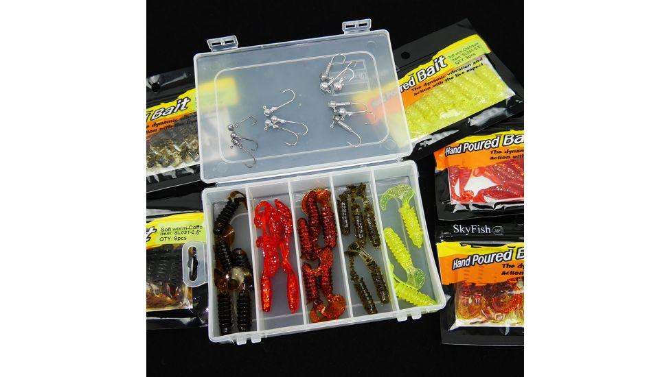 Набор микроджиг  Sky Fish  в коробке, съедобный силикон на окуня