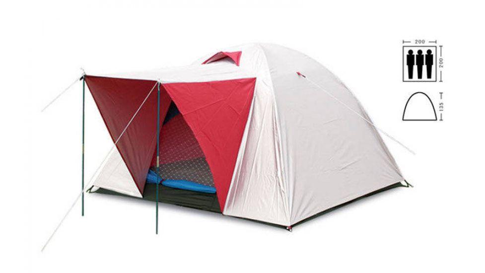 Палатка универсальная 3-х местная с тентом и тамбуром sy-014