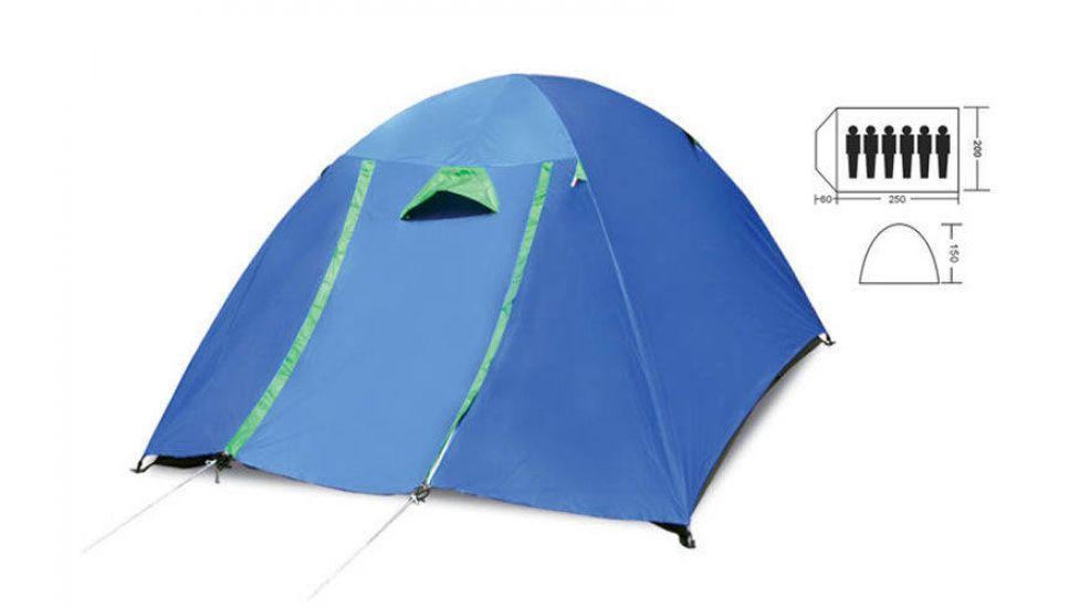 Палатка кемпинговая Shengyuan sy-017 6-и местная с тентом