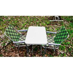 Набор пикниковый столик и два раскладных кресла