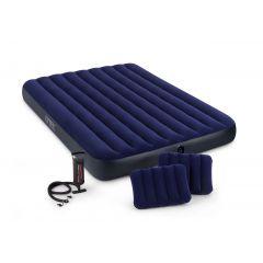 Набор  Intex 68765 ( 152*203*22 см) + насос + 2 подушки