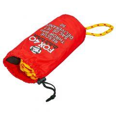 Спасательный нетонущей канат l-15м в водонепроницаемом мешке FOX40 7907-0102 RESCUE THROW BAG
