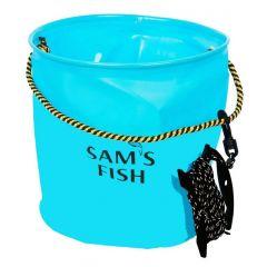 Ведро рыболовное Sams Fish ЭВА 25х25 см SF-23842 Синий