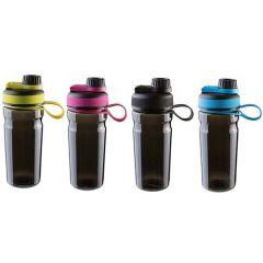 Бутылка для воды Sport 600мл, черная, шейкер